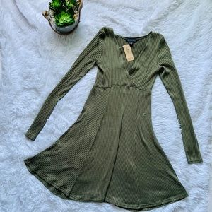 American Eagle soft and sexy ribbed flare dress